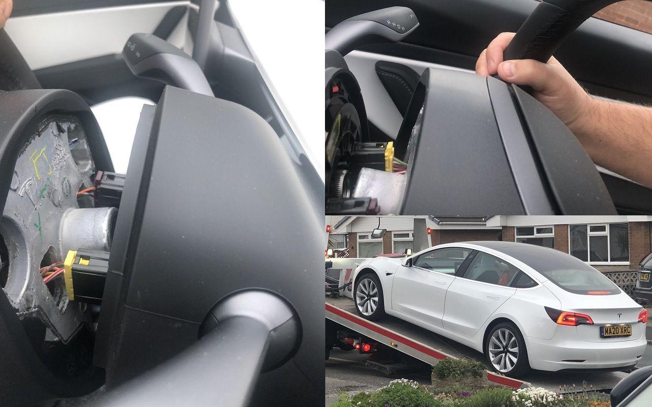 Маск, что задела?! Утвоей Tesla находу руль отвалился!