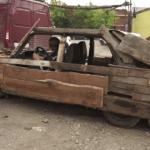 Поездка на деревянных «Жигулях» обернулась тремя штрафами (видео)