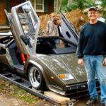 Отдал 17 лет жизни: энтузиаст построил реплику Lamborghini Countach и чуть не сошел с ума