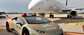 Машиной сопровождения самолетов в аэропорту Италии стал новый Huracan Evo
