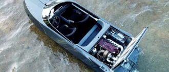 На продажу выставлен самодельный катер с мотором от Nissan Skyline GT-R