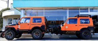 Внедорожник Suzuki Jimny превратили в туристический прицеп
